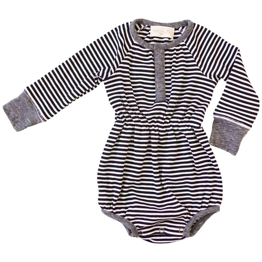 Little Gals Jill Bubble Black Stripe