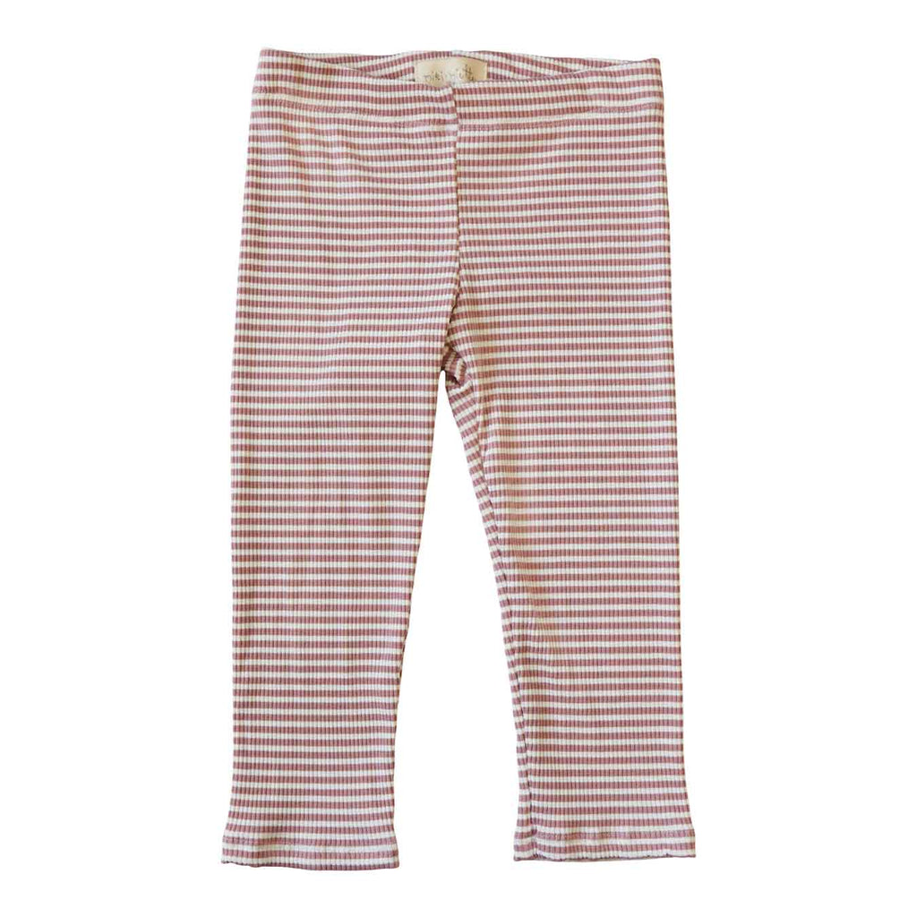 Little Gals Lena Leggings Sugar Land Pink Stripe