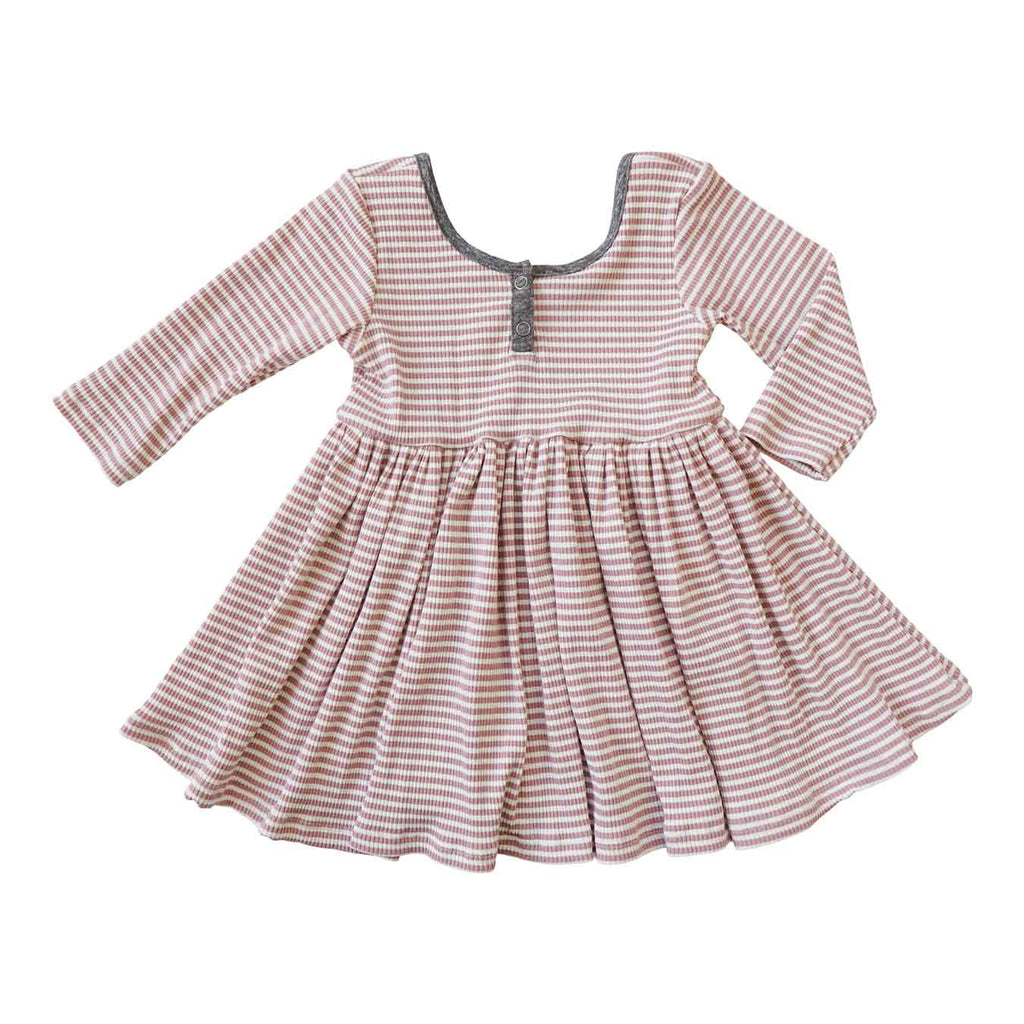 Little Gals Liv Dress Sugar Land Pink Stripe