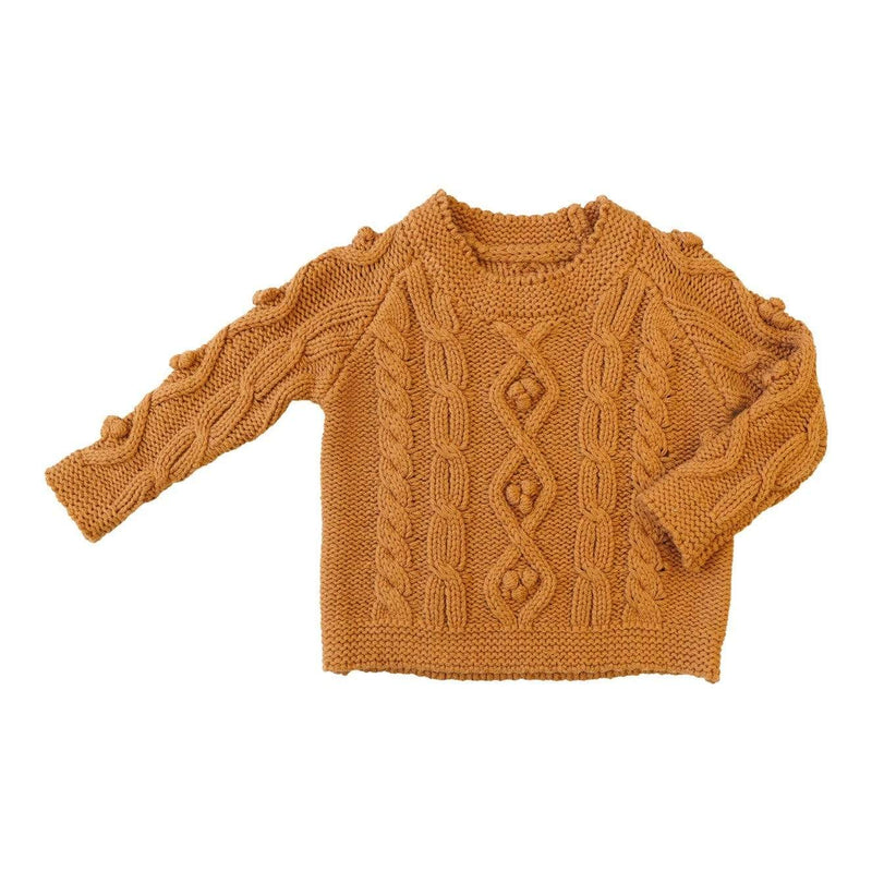 Little Gals Loki Sweater Sugar Land Ochre