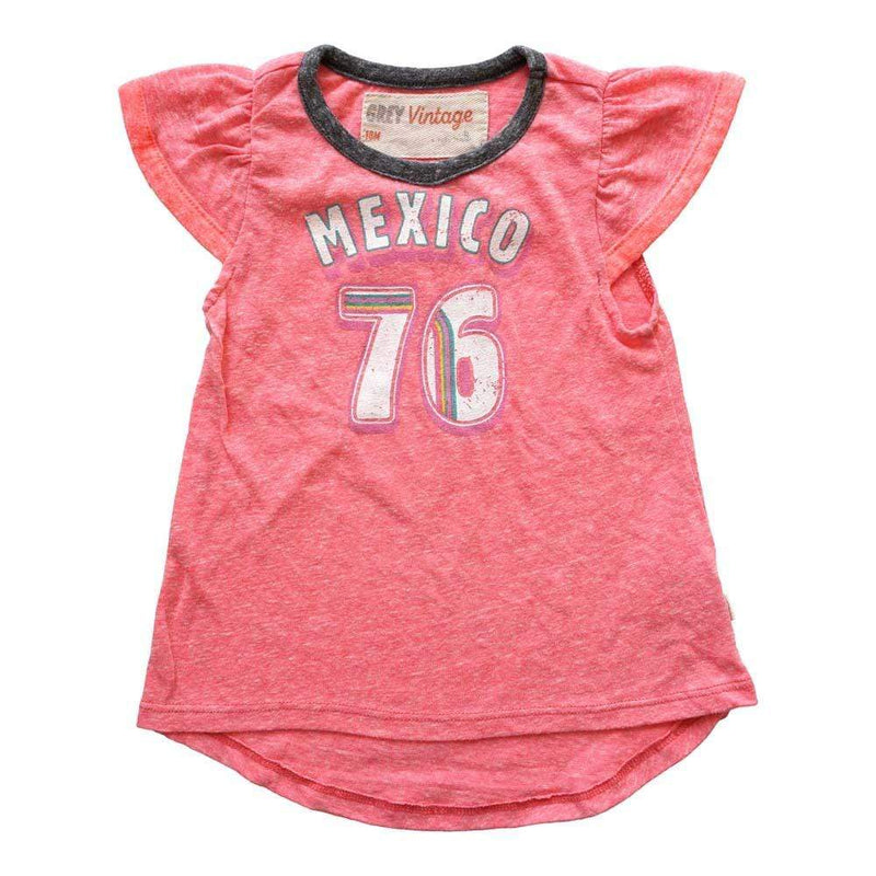 Little Gals Mexico Girls Ringer Tshirt