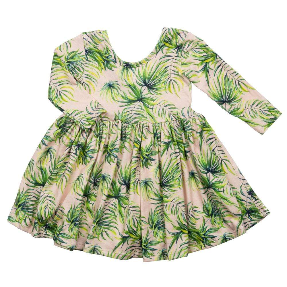 Twirl Dress Pink Palm