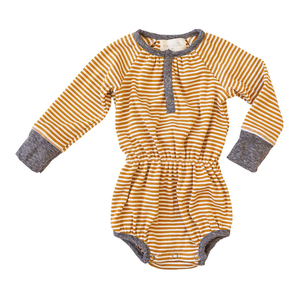 Little Gals SUGAR LAND / nb Jill Bubble Sugar Land Ochre Stripe