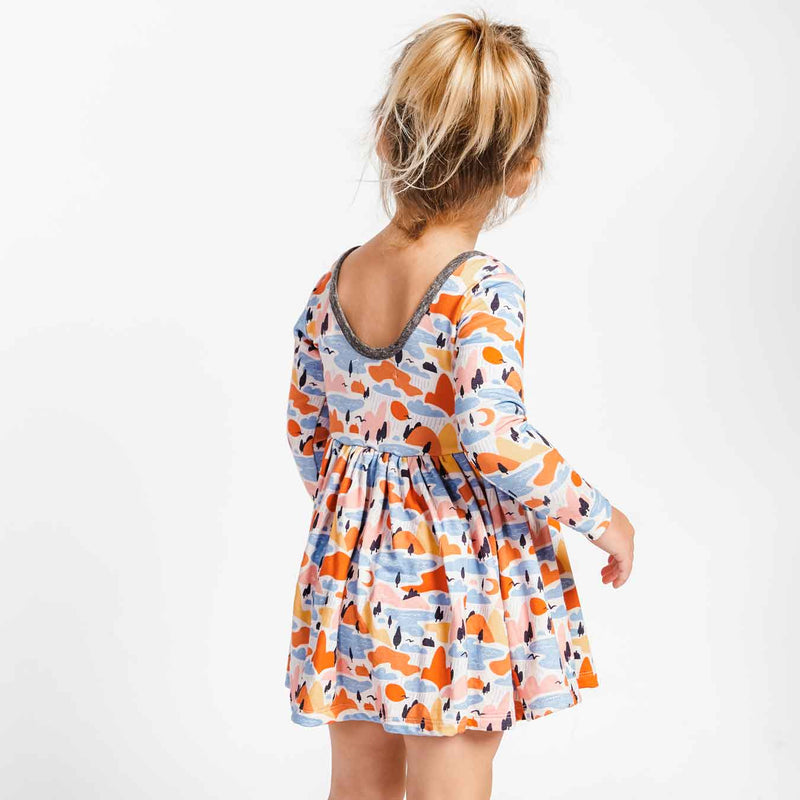 Little Gals Twirl Dress Landscapes