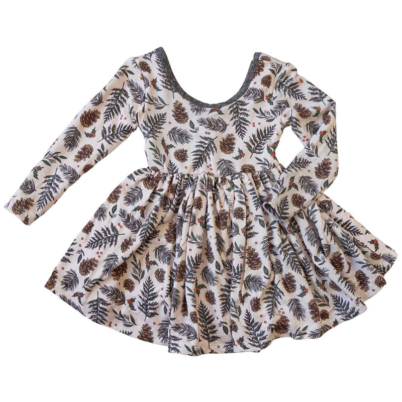 Little Gals Twirl Dress Pinecone Forest