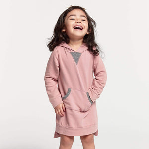 Little Gals Zoe Hoodie Dress Desert Sand