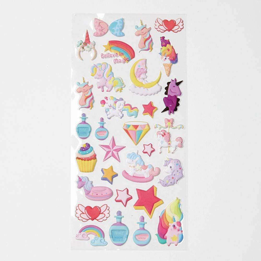 Stationary MISC / OS Unicorn Puffy Stickers
