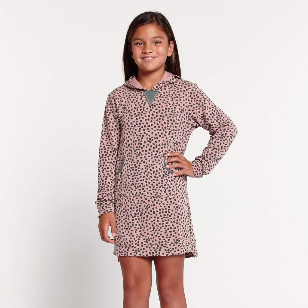 Tween Zoe Hooded Dress Jungle