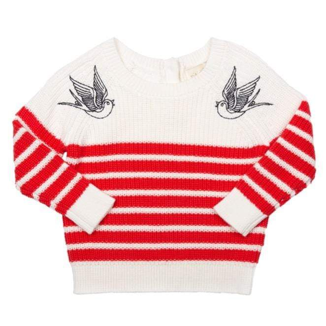 Womens Mama Embroidered Sailor Sweater