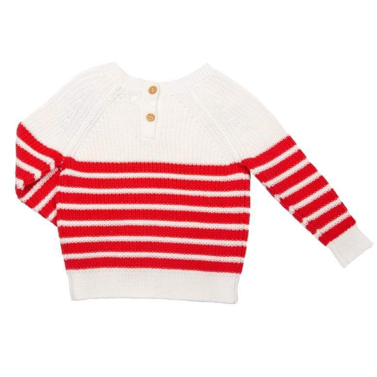 Mama Embroidered Sailor Sweater