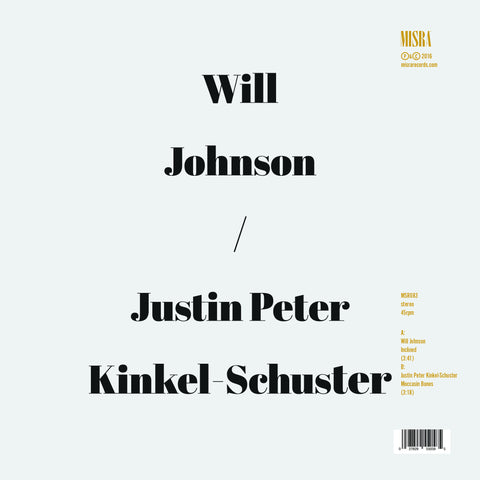 "Will Johnson & Justin Peter Kinkel-Schuster - ""Inclined/Moccasin Bones"""