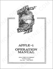 Load image into Gallery viewer, Apple-1 Operation Manual