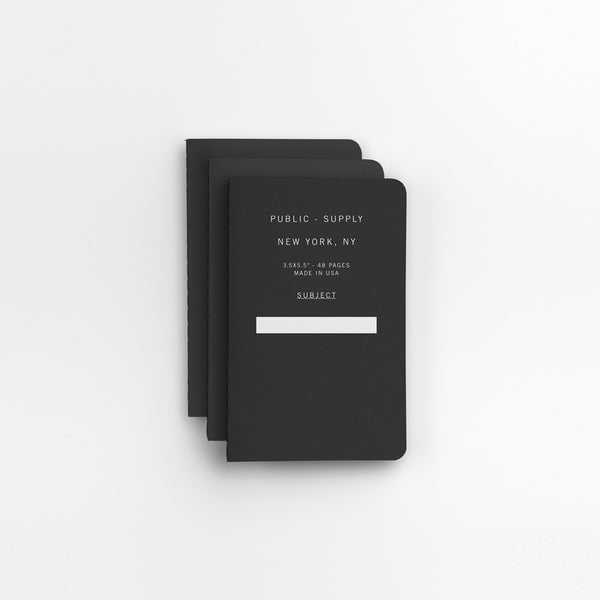 Public Supply Soft Cover Notebooks Set - Black 01