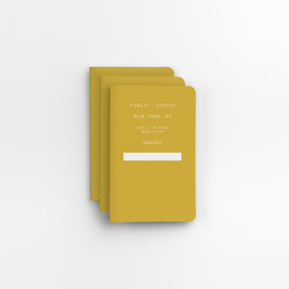 Public Supply Soft Cover Notebooks Set - Yellow
