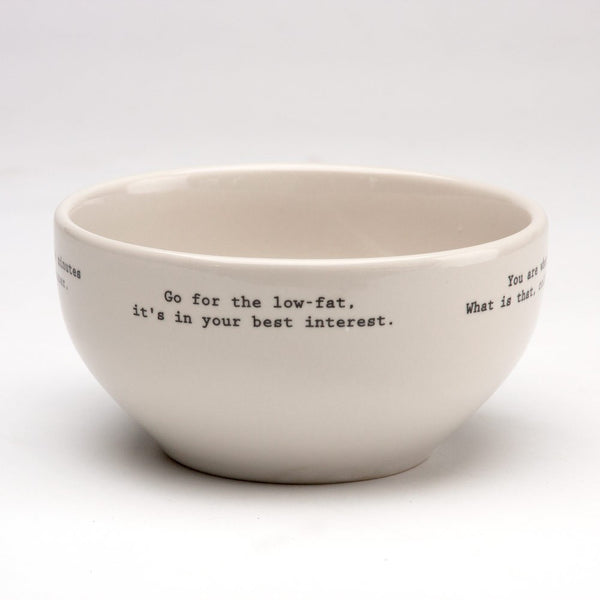 Intervention-ware Cereal Bowl
