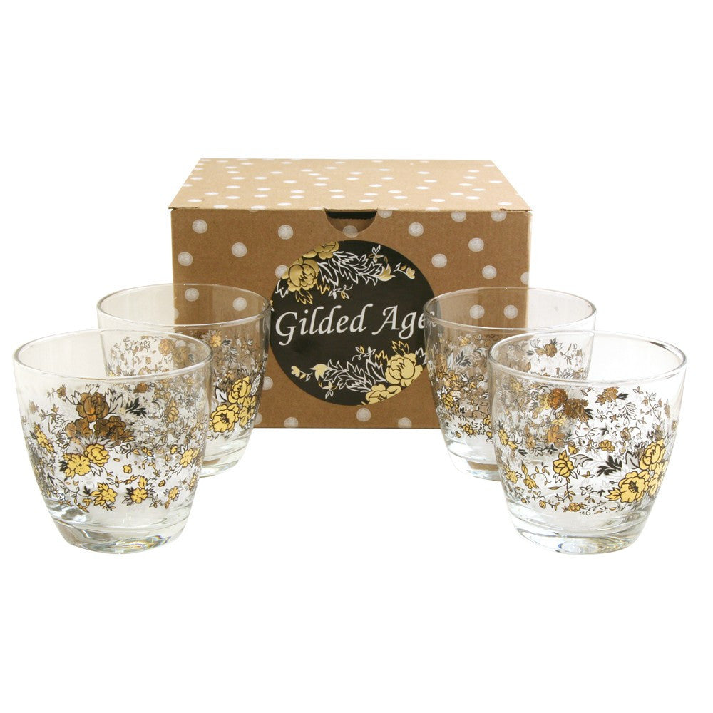 Gilded Age Rocks Glass Gift Set
