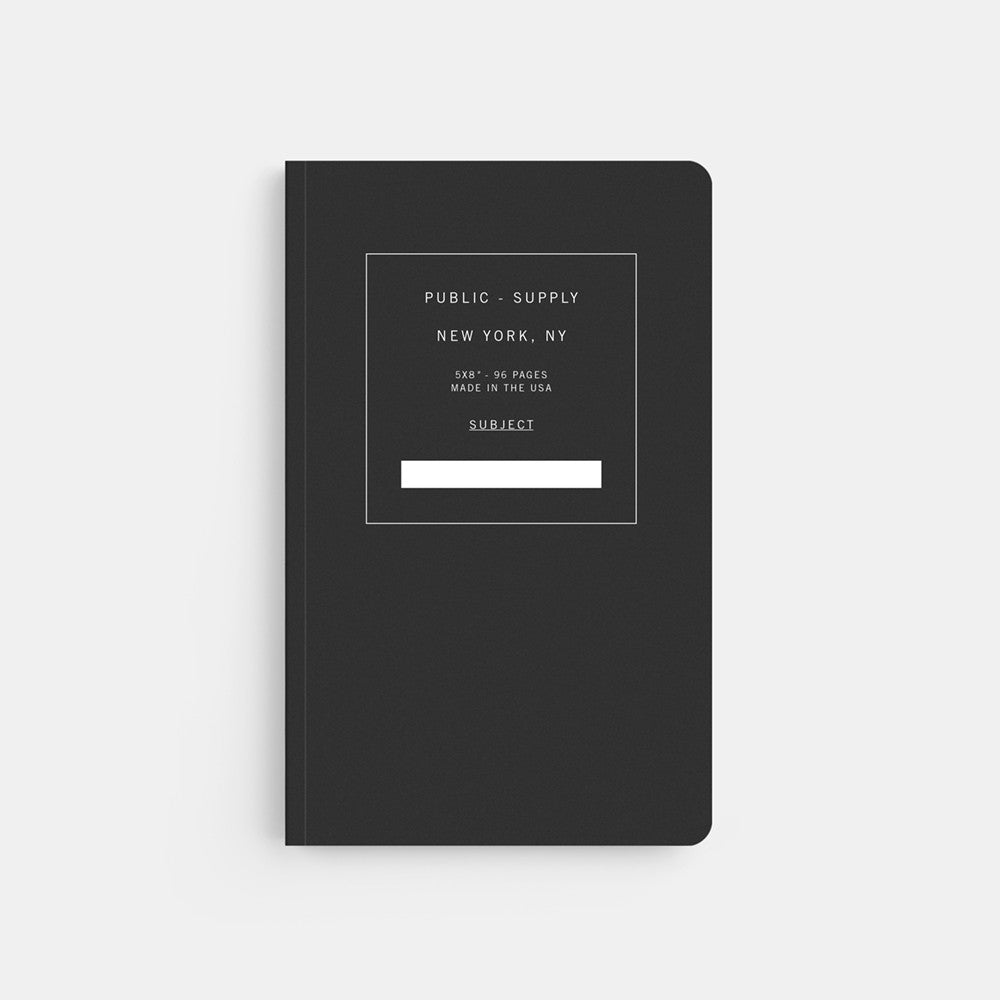 Public Supply 5 x 8 Black 01 Soft Cover Notebook