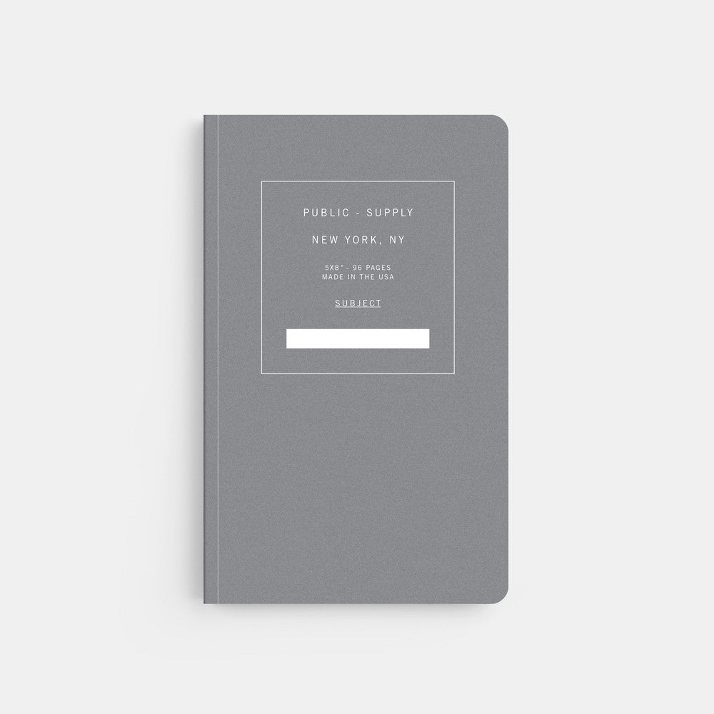 Public Supply 5 x 8 Black 02 Soft Cover Notebook