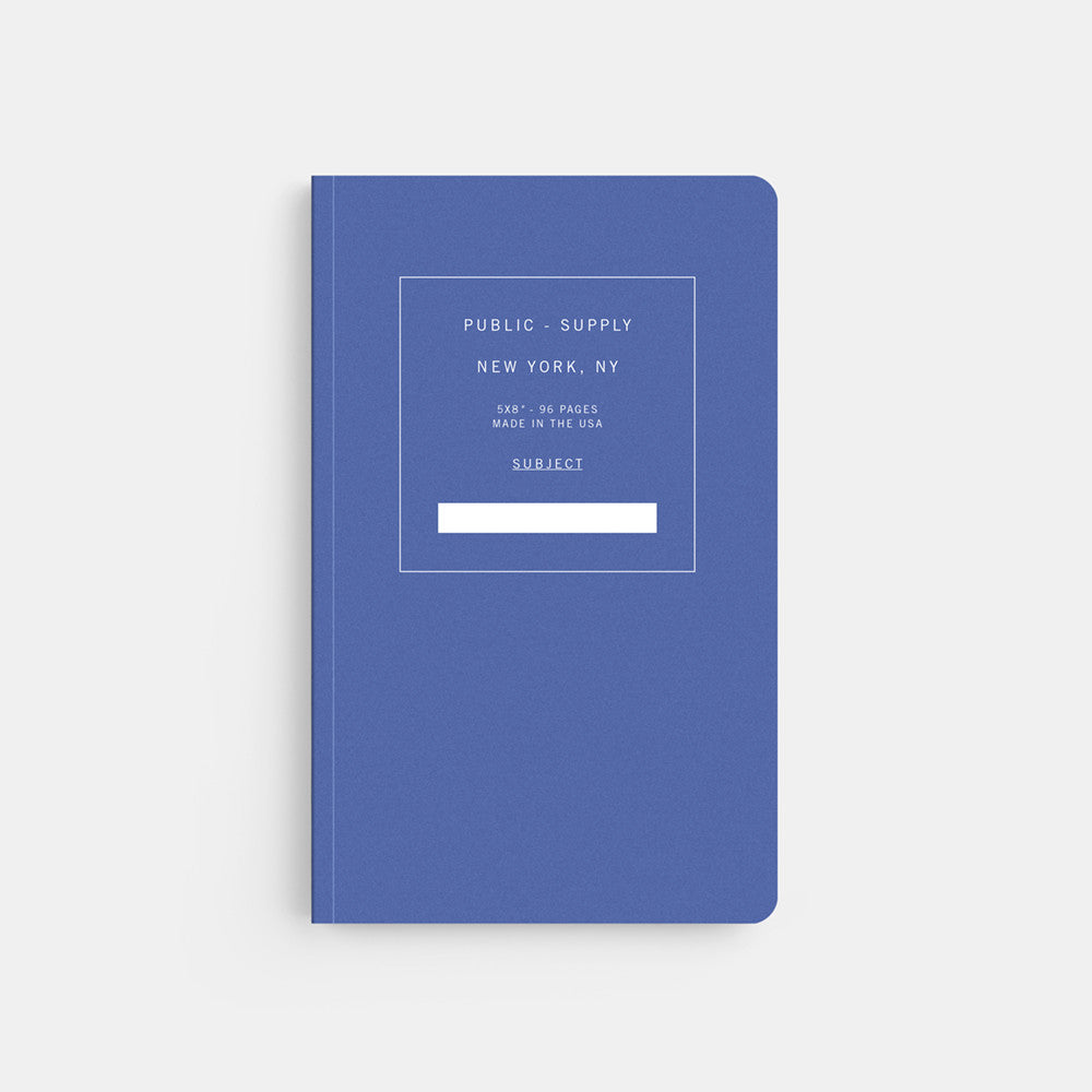 Public Supply 5 x 8 Blue Soft Cover Notebook