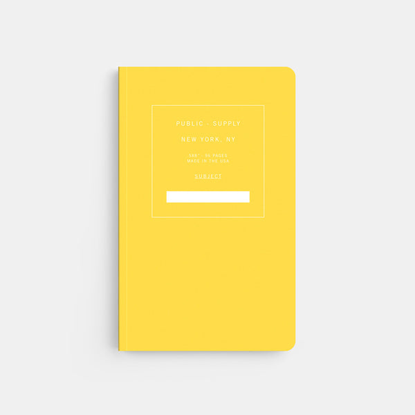 Public Supply 5 x 8 Yellow Soft Cover Notebook