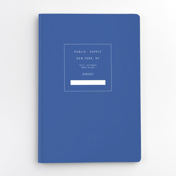 Public Supply 7 x 10 Blue Soft Cover Notebook