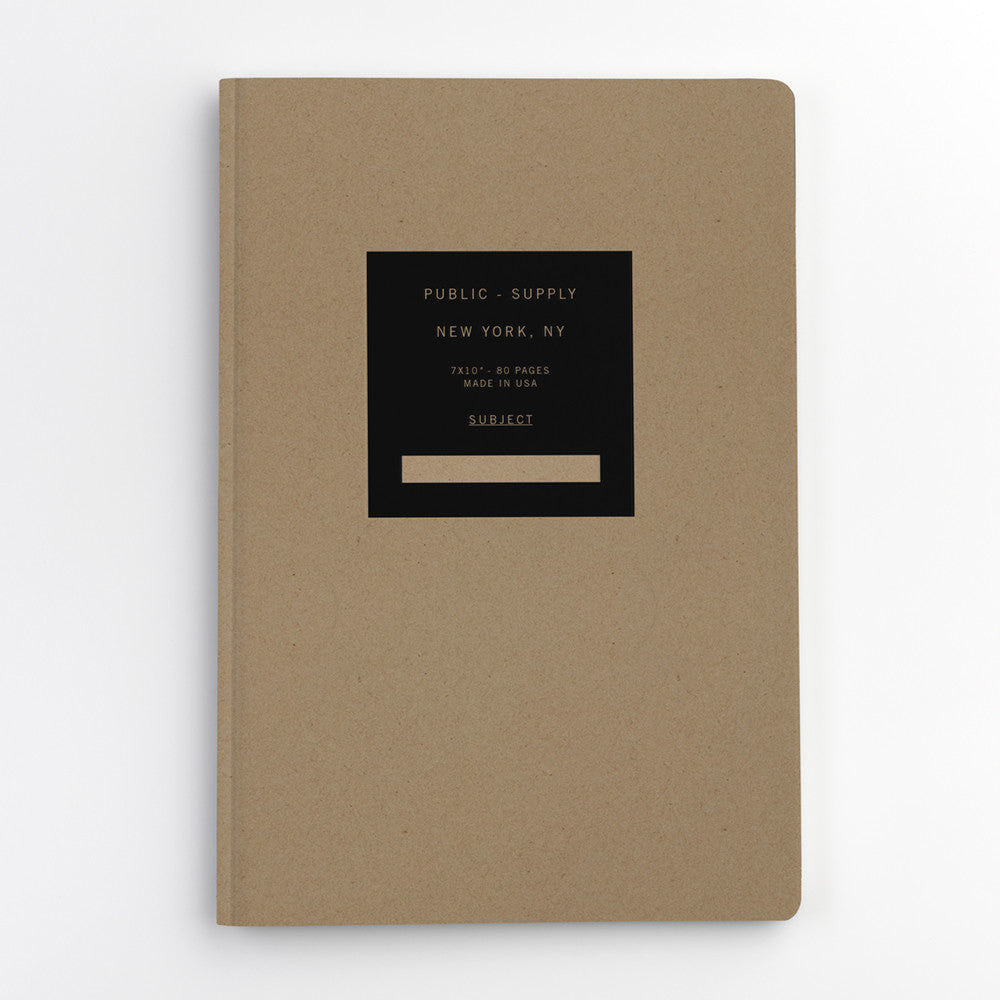 Public Supply 7 x 10 Kraft Soft Cover Notebook