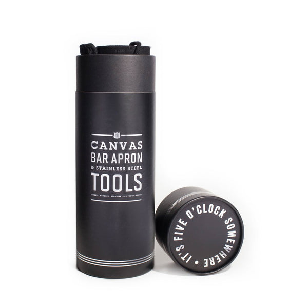 Canvas Bar Apron & Stainless Steel Tools