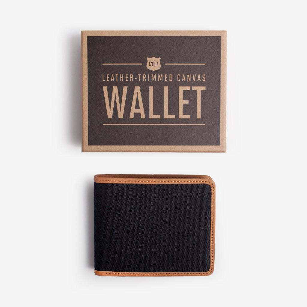 Black Leather Trimmed Wallet