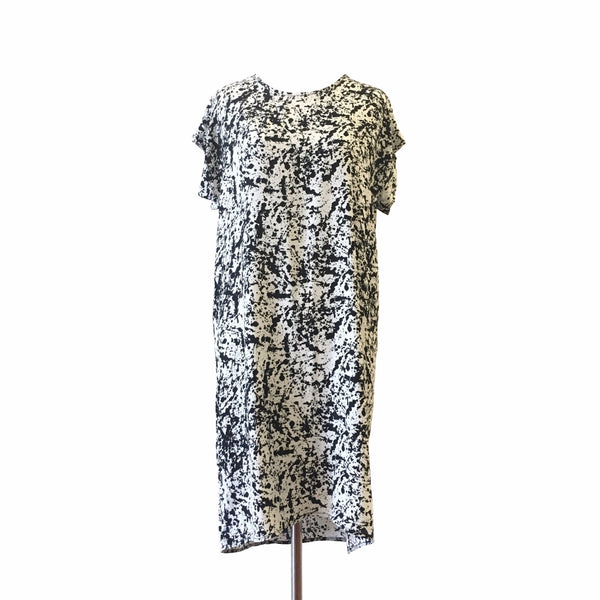H. Fredriksson Box Dress in Black Pollock