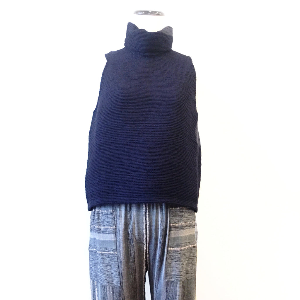 Laura Siegel Handwoven Recycled Saree T-Neck Tank