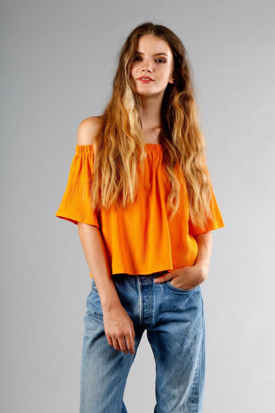 Otis & Maclain Laura Top in Orange