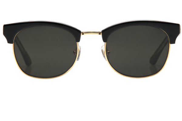 Krewe LGD Sunglasses in Black + Crystal Polarized