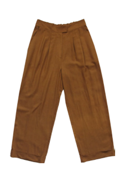 Ali Golden Roll-Cuff Pant in Rust
