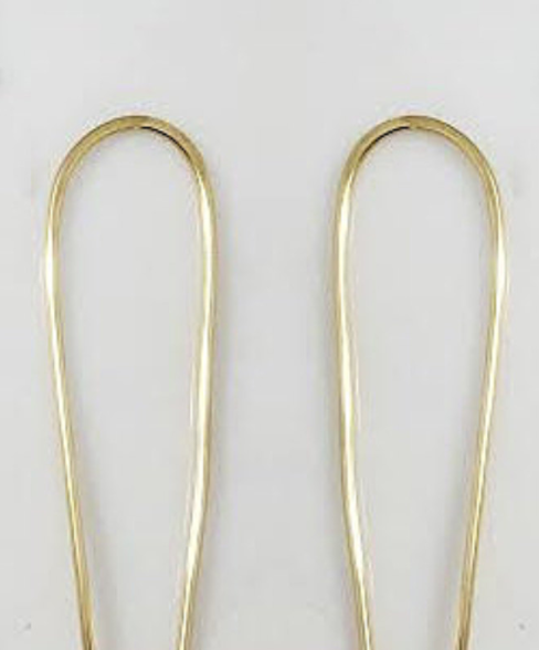 Gold Long Arc Earring