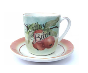 Rotten Bitch Altered Vintage Mug