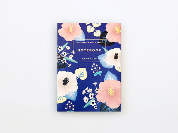 Hibiscus Notebook in Blue