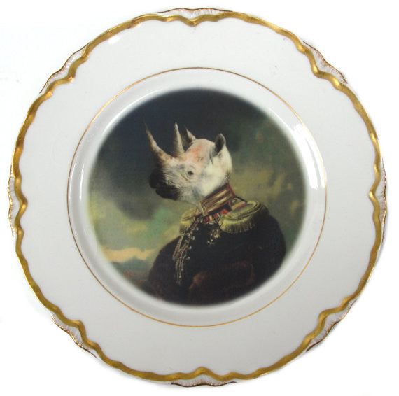 Lord Voluntus de Gaulle - Altered Vintage Plate