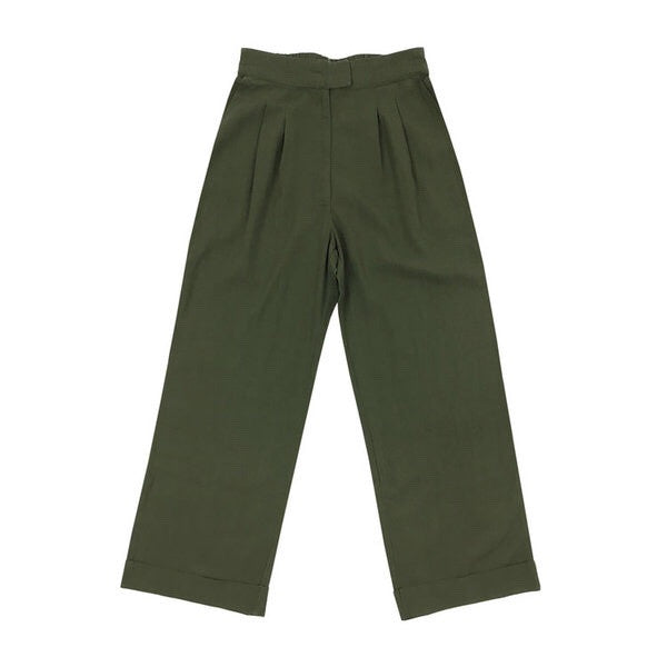 Ali Golden Roll-Cuff Pant in Olive