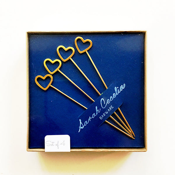 Heart Cocktail Pick Set