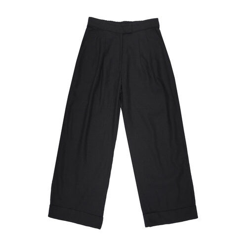 Ali Golden Roll-Cuff Pant in Black
