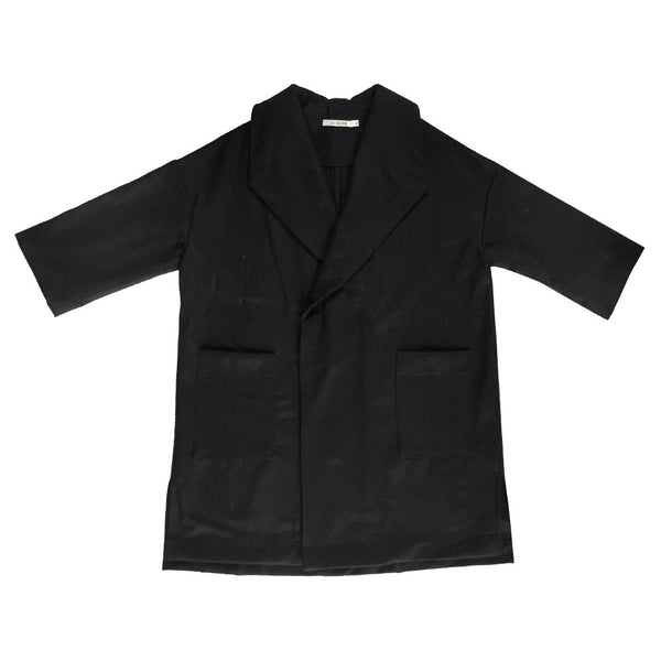 Ali Golden Kimono Coat in Black