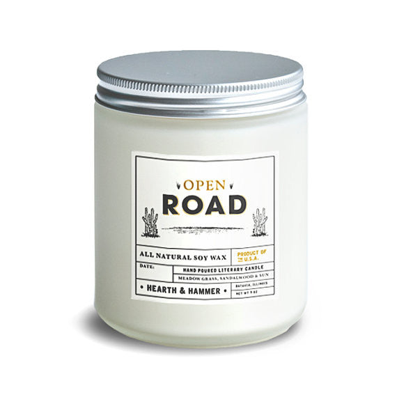 Open Road Literary Candle