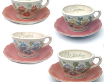 Whiskey, Vodka, Tequila & Scotch Teacup Set