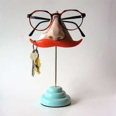 Nose & Stashe Glasses and Key Stand