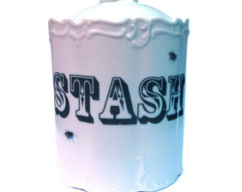 Stash Jar Altered Vintage Canister