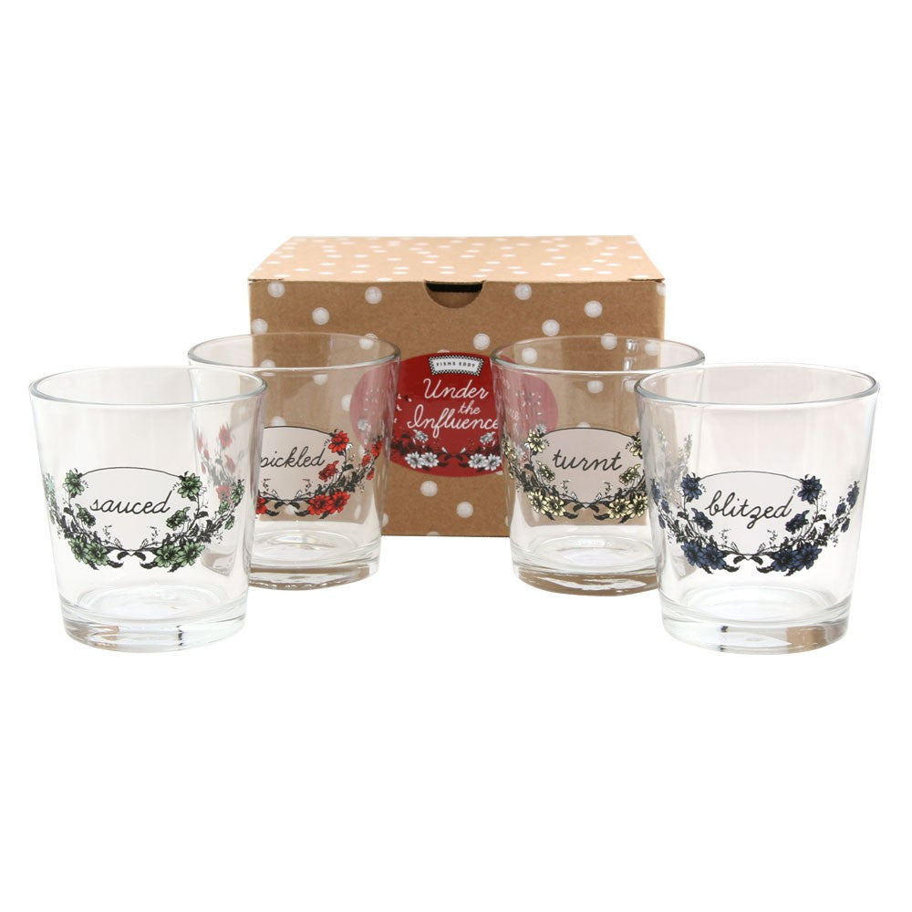 Under the Influence Glassware Set