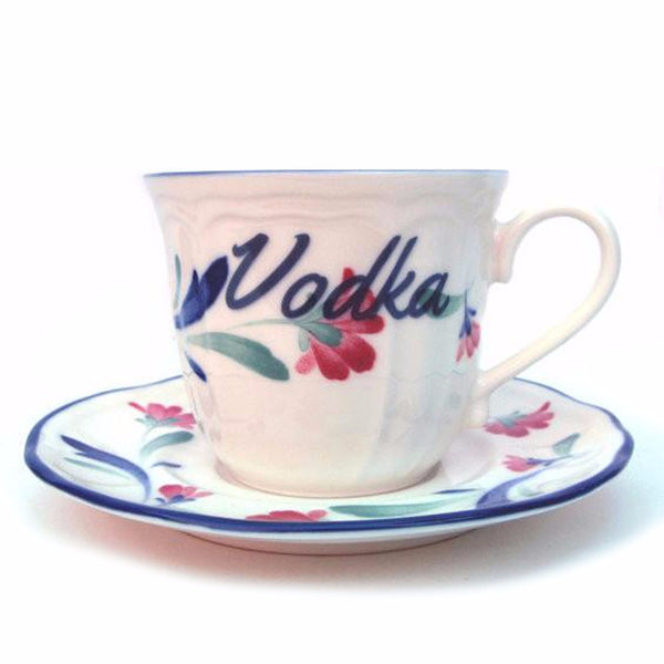 Vodka Altered Vintage Teacup and Saucer