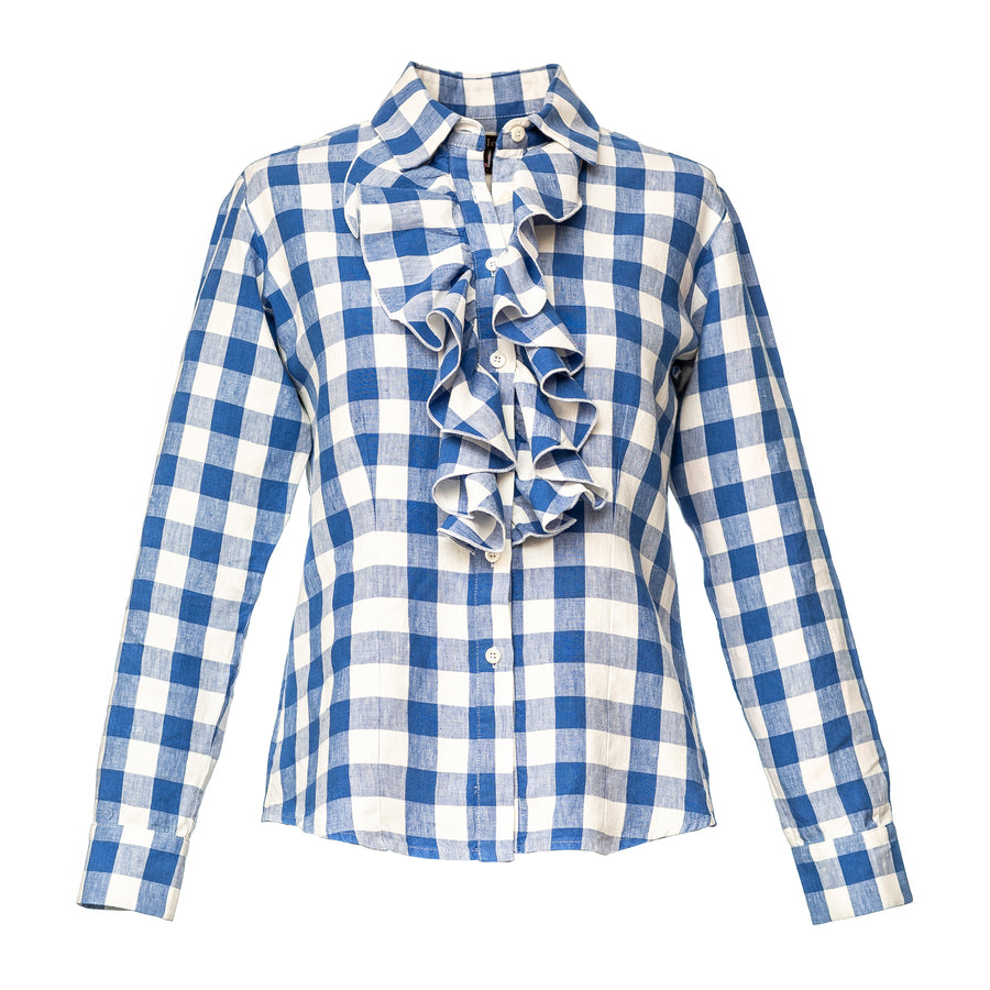 Single Frill Check Shirt