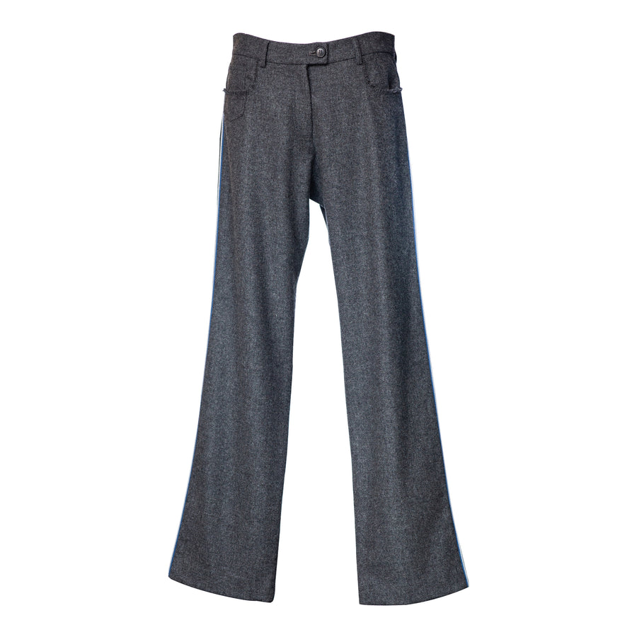 Oxford Trousers Grey Flannel