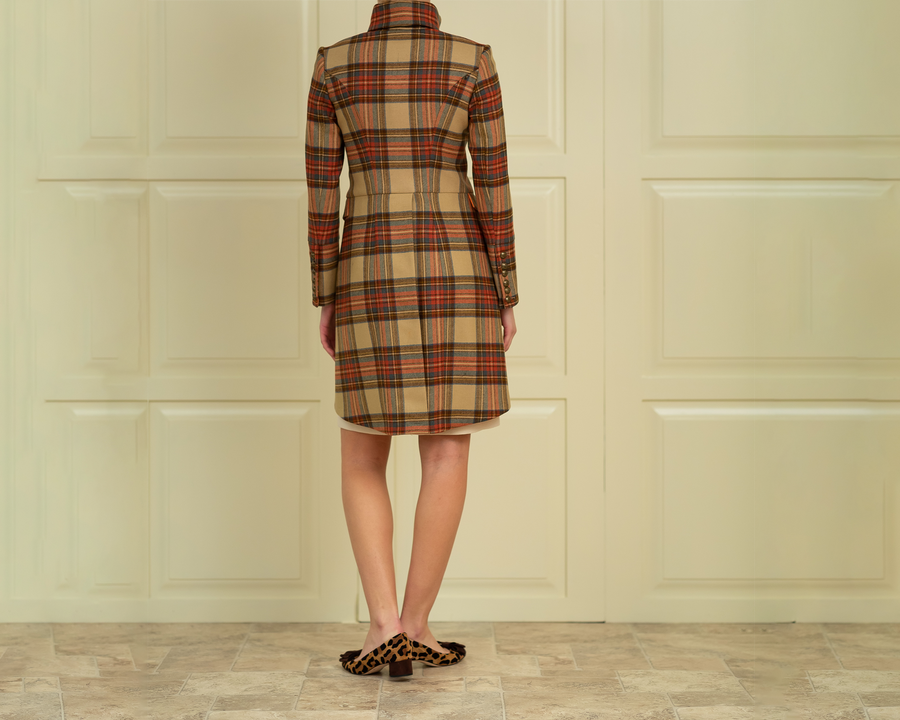 Bonaparte Tailcoat Camel Plaid